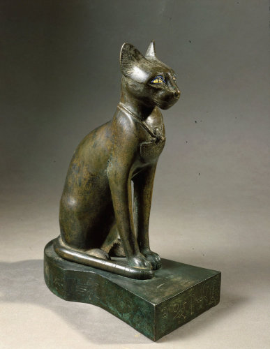 Cat, bronze and gold by Anonymous