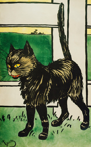 Black Cat, c.1900 by Harry Eliott