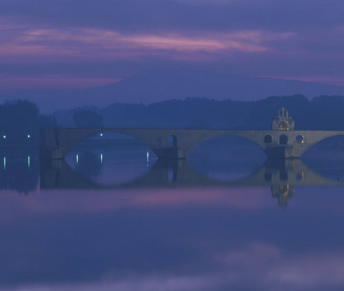 Pont St Benezet in the town of Avignon France by Danita Delimont