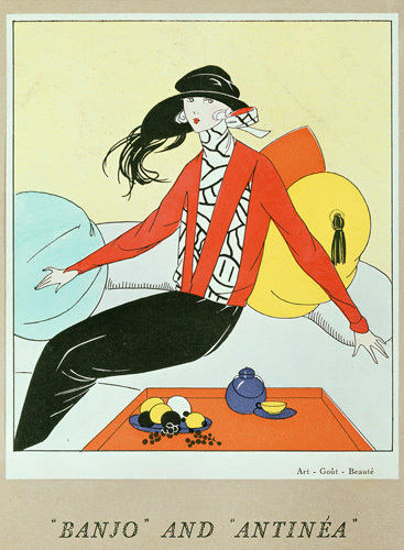 Banjo and Antinéa crepe from Art Gout Beauté magazine October 1921 by Anonymous