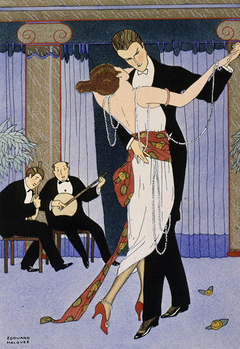 Couple dancing 1919 by Edouard Halouze