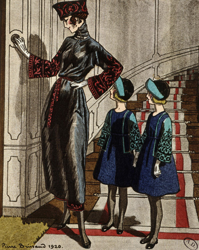 Afternoon dress and childrens dresses by Jeanne Lanvin by Anonymous