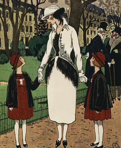 Women's suit and children's dresses by Jeanne Lanvin by Anonymous
