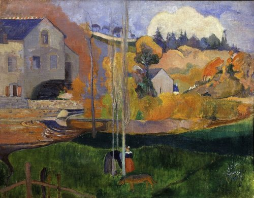 Paysage de Bretagne, Le moulin David, 1894 by Paul Gauguin