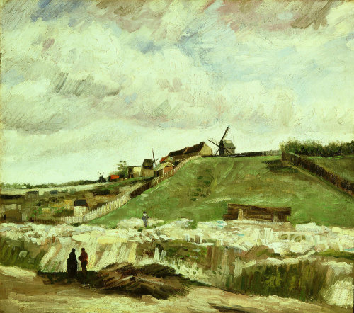 Quarry and mills at Montmartre, Paris, 1886 by Vincent Van Gogh