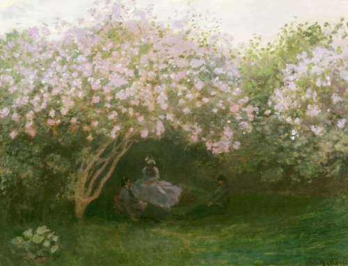 Lilacs in grey weather, c. 1873 by Claude Monet