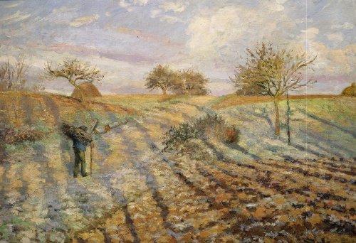La gelée blanche (hoarfrost), 1873 by Camille Pissarro