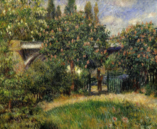Railway bridge at Chatou, Yvelines, 1881 by Pierre Auguste Renoir
