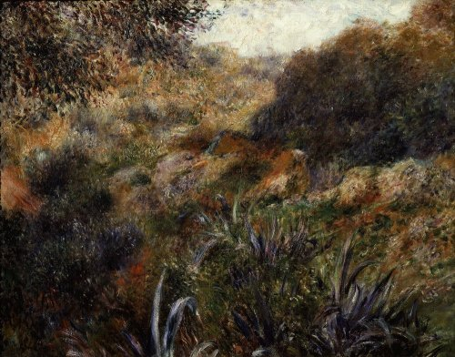 Algerian landscape, the ravine of the wild woman, 1881 by Pierre Auguste Renoir