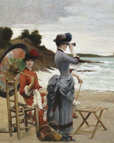Elegant Ladies on the Beach by Jules Aviat