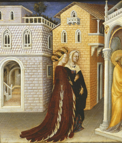 Two Women, The Presentation at the Temple, 1423 (Detail) by Gentile da Fabriano