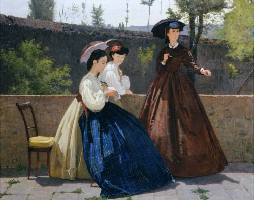 Charity or l'Elemosina (Detail) by Silvestro Lega