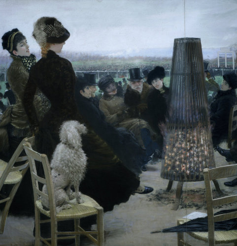 Horse racing in Bois de Boulogne, Paris, 1881 by Giuseppe de Nittis