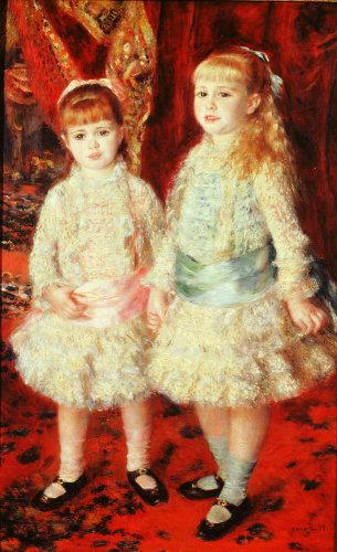 Rose et Bleu, ou Les demoiselles Cahen d'Anvers by Pierre Auguste Renoir