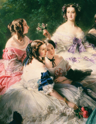 Empress Eugenie Surrounded by her Ladies-in-Waiting 1855 (Detail) by Franz Xavier Winterhalter