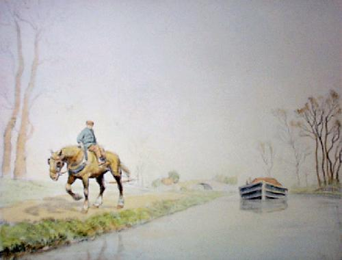Canal Barge Horse (Restrike Etching) by Graham Clilverd