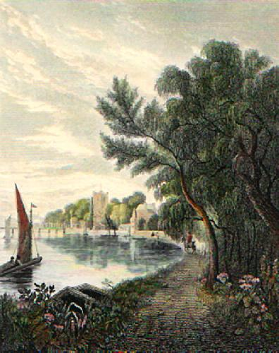 Putney from the Riverside (Restrike Etching) by Basil Bradley