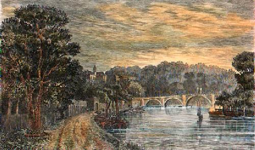 Richmond Bridge (Restrike Etching) by Anonymous