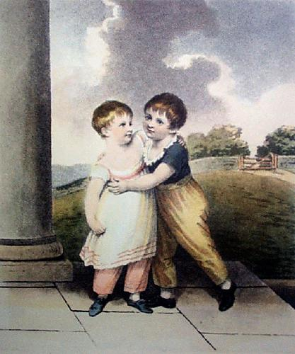 Brother & Sister (Restrike Etching) by Bach