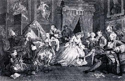 Marriage a La Mode - Pl. IV (Restrike Etching) by William Hogarth