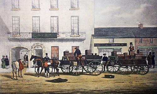 Bianconi Coaching - Plate I (Restrike Etching) by Michaelangelo Hayes