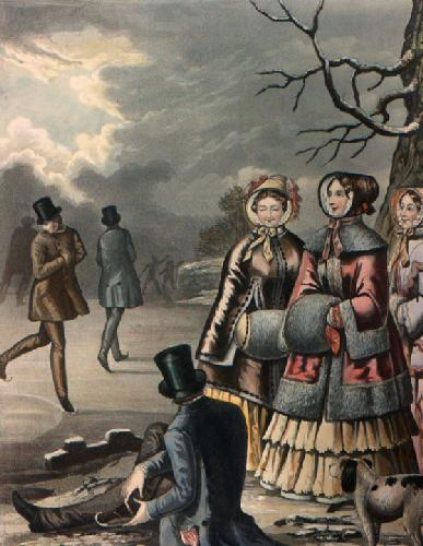 January Skating (Restrike Etching) by Anonymous