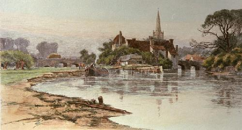 Abingdon (Restrike Etching) by Wilfred Ball