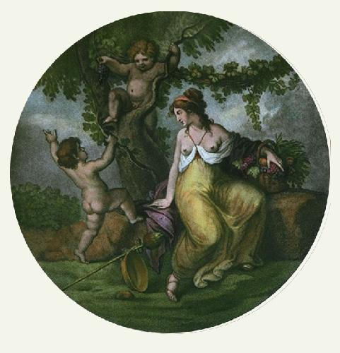 Autumn (Round) (Restrike Etching) by William Hamilton