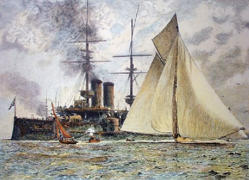 Steam & Sail (Restrike Etching) by Anonymous