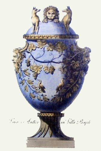 Vase - Pl. VI (Blue) (Restrike Etching) by Anonymous