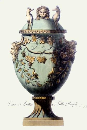 Vase - Pl. VI (Green) (Restrike Etching) by Anonymous