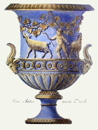 Vases - Pl. XII (Blue) (Restrike Etching) by Anonymous
