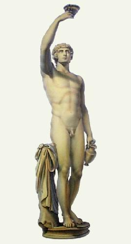 Marble Statue - Pl. LII (Restrike Etching) by E. Burney