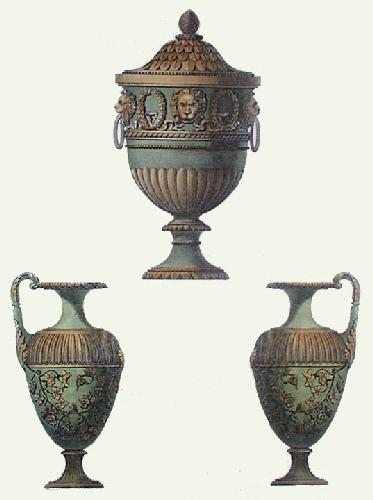 Vases - Pl. II (Green) (Restrike Etching) by Anonymous