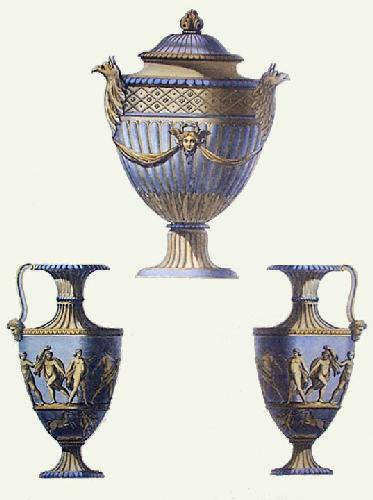 Vases - Pl. III (Blue) (Restrike Etching) by Anonymous