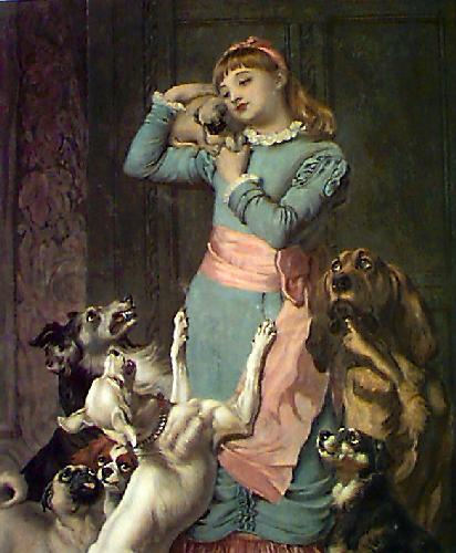 Envy, Hatred, Malice (Restrike Etching) by Briton Riviere