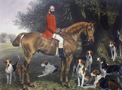 Master & Hounds, The (Restrike Etching) by Anonymous