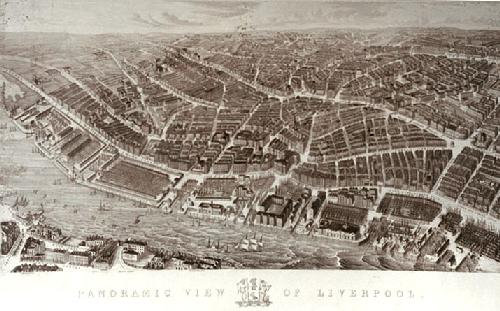 Liverpool (Panoramic View) (Restrike Etching) by Anonymous