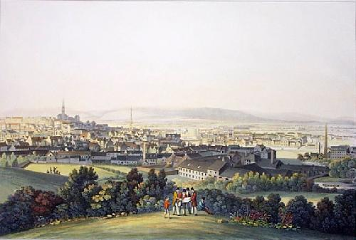 Paisley, Town of (Restrike Etching) by IH Clark