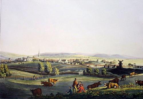 Town of Forfar (Restrike Etching) by IH Clark