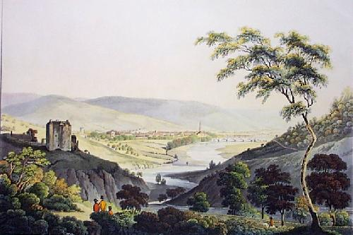 Peebles, Town of (Restrike Etching) by IH Clark