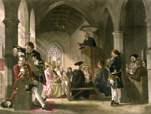 Goldsmiths Village Pastor (Scoffers) (Restrike Etching) by Anonymous