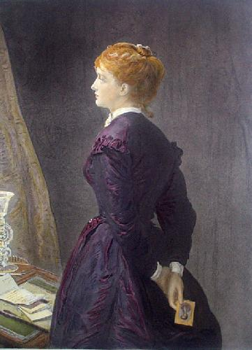 Yes or No (Restrike Etching) by Sir John Everett Millais