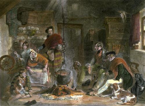 Highland Hospitality (Restrike Etching) by John Frederick Lewis