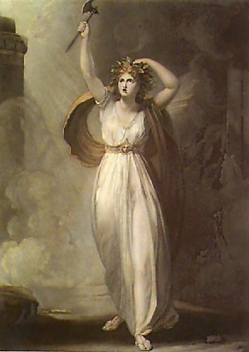 Lady Hamilton as Cassandra (Restrike Etching) by George Romney