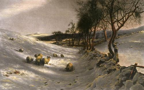 Thro the Crisp Air (Restrike Etching) by Joseph Farquharson