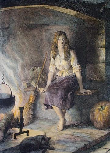Cinderella (Restrike Etching) by Herbert Thomas Dicksee