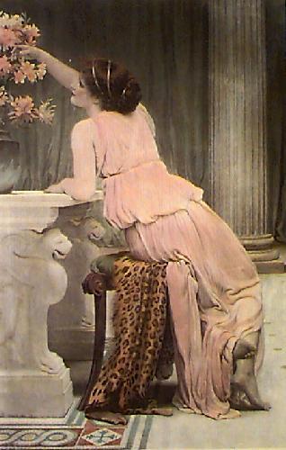 Flower Worship (Restrike Etching) by Charles Edward Perugini