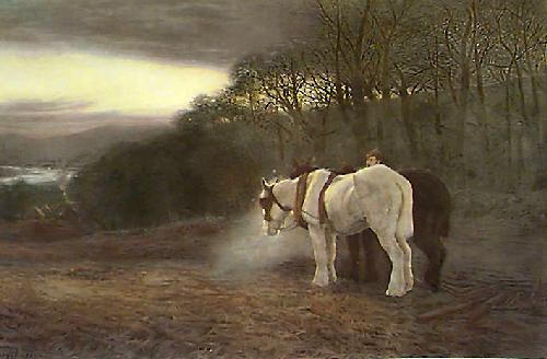 Close of Day (Restrike Etching) by Joseph Farquharson