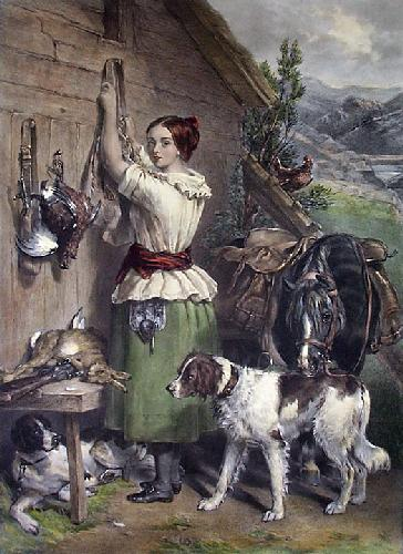 Gamekeeper's Daughter (Restrike Etching) by Frederick C. Taylor